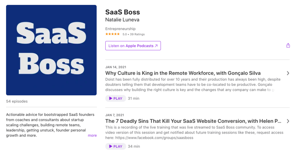 SaaS Boss Podcast